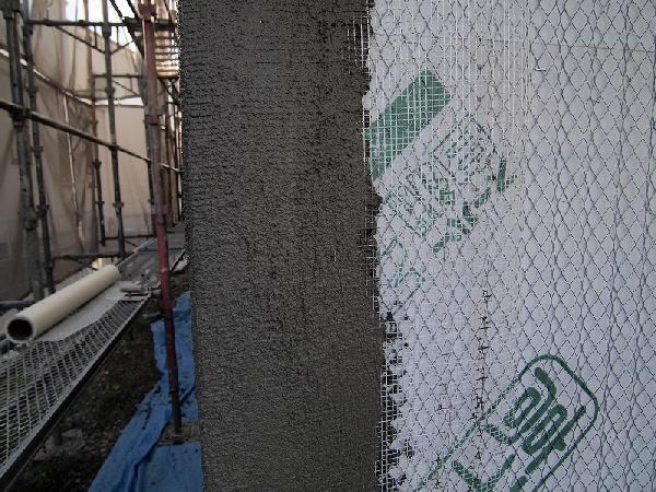 外壁下塗りとノンクラックネット