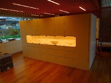 DK 飾り棚付食器家電収納