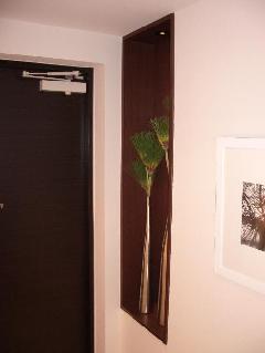 二子玉川 玄関 飾り棚