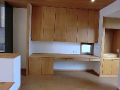 神宮前の家 3F厨房 カウンター収納