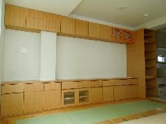台東 M様邸 リビング カウンター収納・TV台