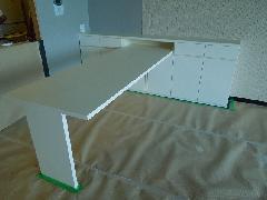熱海リゾートマンション テーブル付カウンター収納