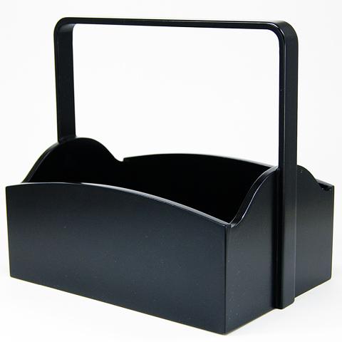 煙草盆 手付櫛形 黒色 莨盆
