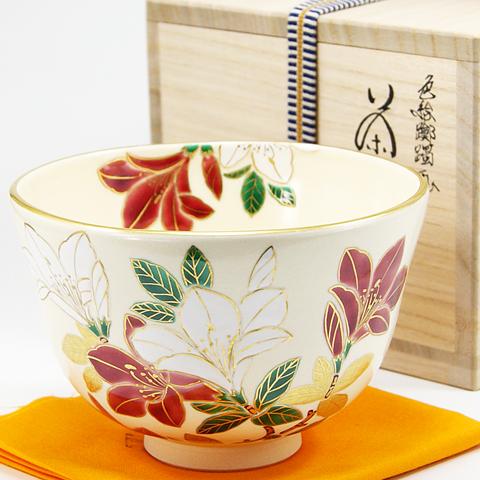抹茶碗  「つつじ」  春物