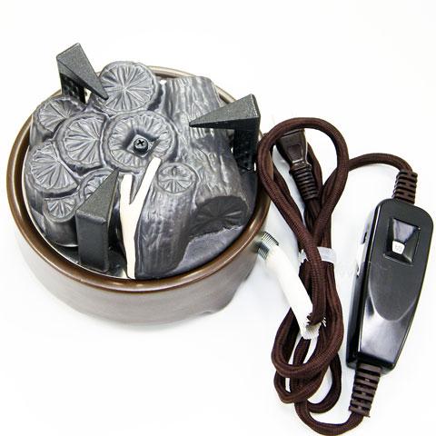 風炉用電気炭 表流 茶道具 YU-002 遠赤外線電気炭 セラミック製