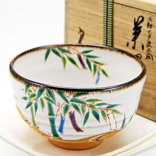 抹茶碗  灰柚茶碗 「七夕流水絵」 木箱入り 夏物