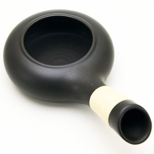 焙烙 (ほうろく) 常滑焼 黒色  耐熱煎り器