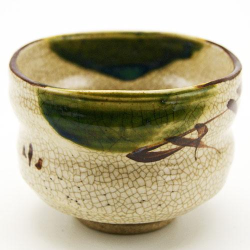野点用抹茶碗 織部 ミニサイズの抹茶茶碗