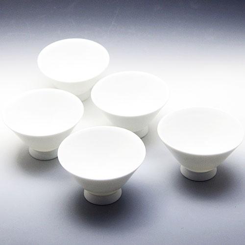 茶碗 5個セット 朝顔型 白磁