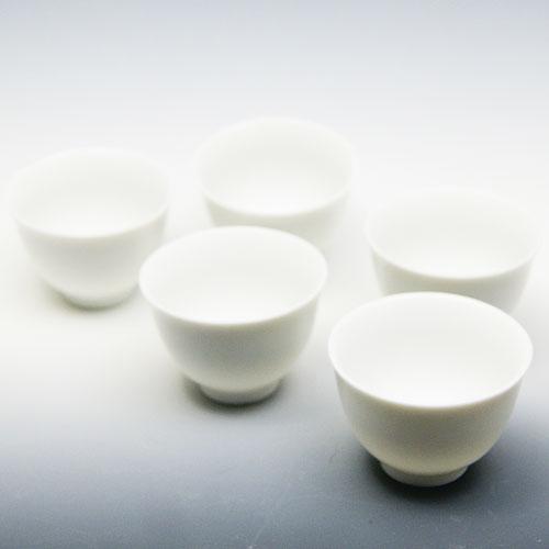 玉露用 茶碗50cc 5個セット 白磁