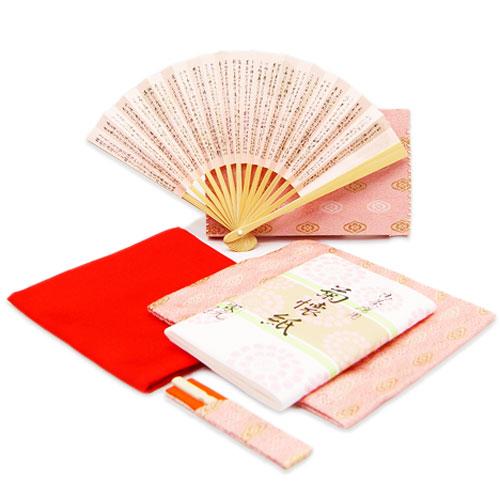 茶道入門 初歩用セット 女子用 雪紋 ピンク色