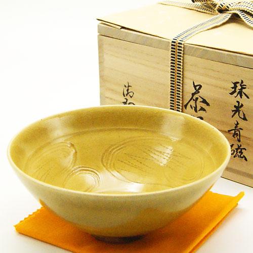 抹茶碗 「珠光青磁写」 通年物