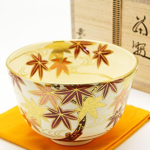 抹茶碗 色絵 「紅葉」 秋物