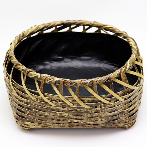 水尾炭取籠 風炉用 松本頌竹作 炭斗 炭道具 籐製