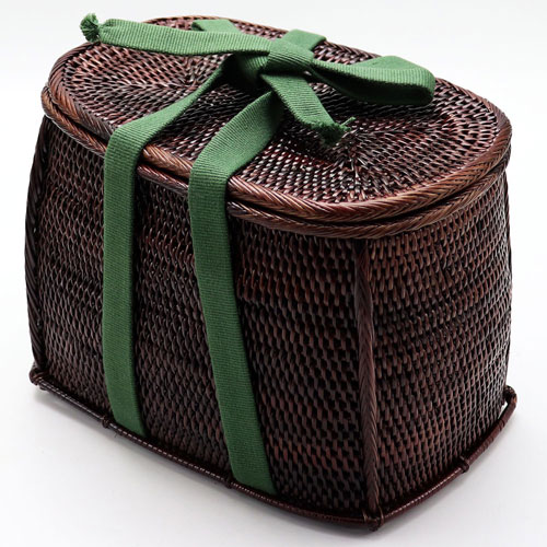 野点茶道具用籐筥(とうばこ) 籐かご 和装バッグ