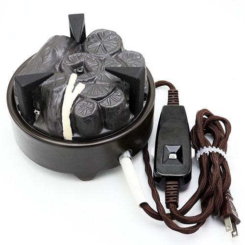 風炉用電気炭 裏流 茶道具 YU-001 遠赤外線電気炭 セラミック製