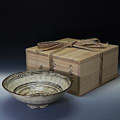 抹茶椀 三島大平写  木箱入り 通年物