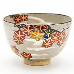 抹茶碗 乾山写 「紅葉」 秋茶碗