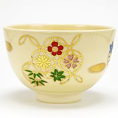 抹茶碗 「花七宝」 通年物