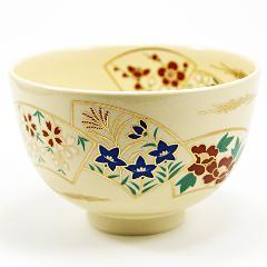 抹茶碗 色絵茶碗 「扇面」 通年物
