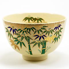 抹茶碗 色絵茶碗 「竹林」 通年物