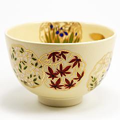 抹茶碗 色絵茶碗 「花丸」 通年物