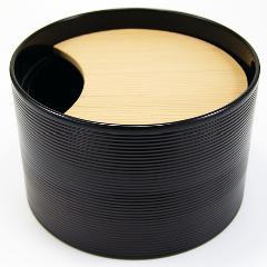 茶巾落し 寸胴 堅地本漆塗  茶道具