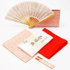 茶道入門 初歩用セット 女子用 七宝柄 ピンク色