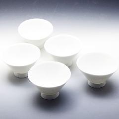 茶碗 5個セット 朝顔型 白磁 美濃焼