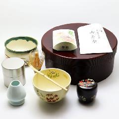 千歳盆 茶櫃 10点セット 茶筅 くせ直し 茶杓 茶巾 抹茶碗 棗 建水 抹茶篩 抹茶