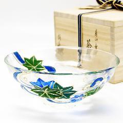 抹茶碗 義山平茶碗 「青楓に流水」 (耐熱)