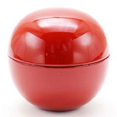 薄茶器 丸棗 栃赤 日の丸