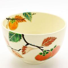 抹茶碗 色絵茶碗 「柿」 秋物