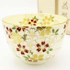 抹茶碗 「桜」 春物 木箱入り