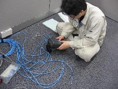 LANケーブル疎通試験