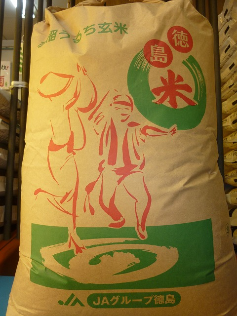 【送料無料】29年産(新米)  徳島県産阿南限定こしひかり 玄米30kg