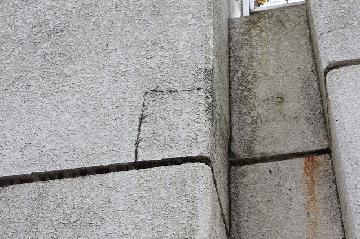 外壁の爆裂補修工事