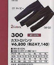 三愛 綿カストロパンツ 300