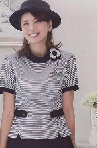 en joie(アンジョア) コサージュ(紺)OP124-1