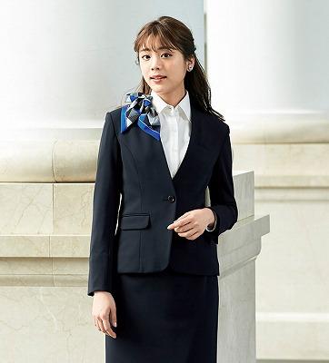 "2019""NEW""en joie(アンジョア)スカート(55�p丈)51870-1(紺)"
