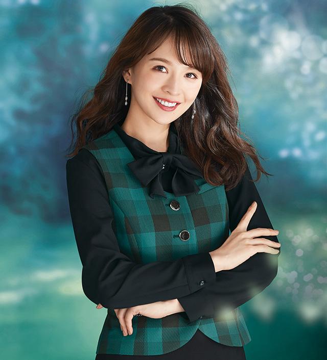 """2019NEW""en joie(アンジョア)長袖ブラウス <リボン付>01190-2(黒)新色"