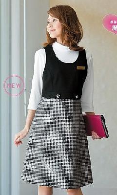 en joie(アンジョア)ジャンパースカート61460-2(黒)送料無料