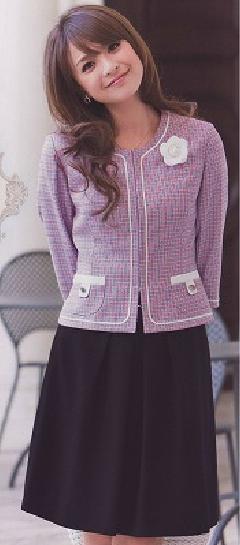 en joie(アンジョア)フレアースカート53�a丈  56160-1(紺)送料無料