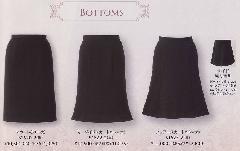 en joie(アンジョア)スカート(53丈) 51620-2 (黒)