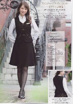 en joie(アンジョア)フレアースカート(53丈) 51653-2 (黒)