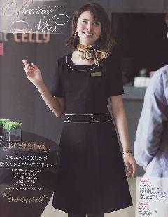 en joie(アンジョア)ワンピース 61650-2(黒) 送料無料