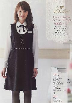 """""""NEW""""en joie(アンジョア) ジャンパースカート61700-2(黒)送料無料"""