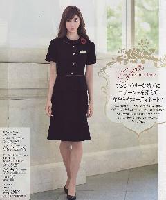 en joie(アンジョア)マーメイドスカート56462-1(紺)