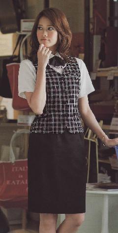 en joie(アンジョア)マーメイドスカート56070-2(黒)