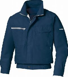 肩パッド付長袖ブルゾン KU90430(空調風神服)